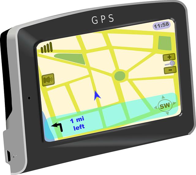 ilustrace klasické GPS navigace